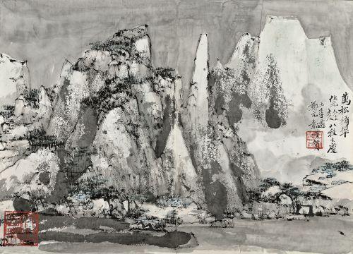 Chinese contemporary painting C.C. Wang and Zheng Yuansu
