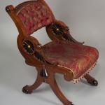 Victorian Furniture   Ebonized Mahogany Chair