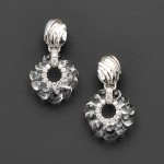 18kt White Gold, Carved Rock Crystal, and Diamond Earpendants,   David Webb (Lot 470, Estimate $5,000-$7,000)