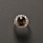 Art Deco Platinum, Alexandrite, and Diamond Ring (Lot 547, Estimate   $15,000-$20,000)