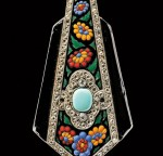 Art Deco Enamel, Diamond, and Gem-set Lorgnette, Boucheron, Paris   (Lot 550, Estimate $8,000-$12,000)