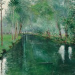 John Leslie Breck (American, 1860-1899), The River Epte, Giverny, c.   1887 (Lot 386, Estimate $100,000-$150,000)