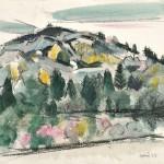 John Marin (American, 1870-1953), Hilltop, Autumn, Maine (Lot 531,   Estimate $30,000-$50,000)