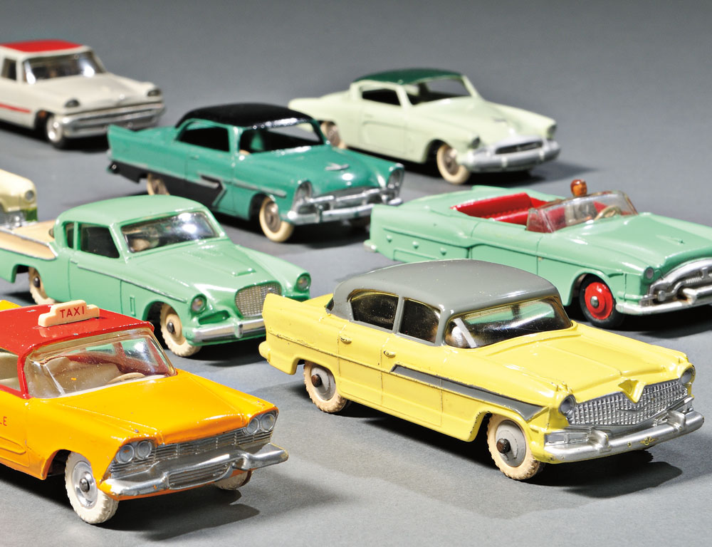 Eight Meccano Dinky Toys Die-cast Metal Automobiles, England and France (Lot 350, Estimate $200-$300)