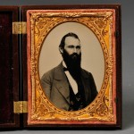 Quarter-plate Ambrotype Portrait of a Bearded Gentleman (Lot 529, Estimate $150-  $200)