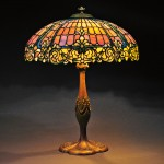 Mosaic Glass Table Lamp attributed to Duffner & Kimberly,  New   York, early 20th century (Sold for $18,000)