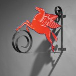 Mobil Pegasus Gas Station Sign, United States, c. 1935 (Sold for   $3,000)