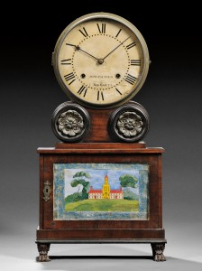 Lot 484 Mahogany 'Brooklyn' Lever Spring Shelf Clock
