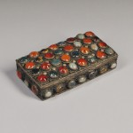 Small Hardstone-mounted Silver Box (Lot 55, Estimate $200-$300)