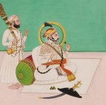 Basohli-style Painting of a Maharaja, India, 19th/20th century (Lot 399, Estimate $400-$600)