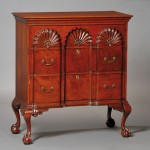 Chippendale-style Block-and Shell-carved Cherry Three Drawer Bureau (Lot 1264, Estimate $1,200-$1,800)