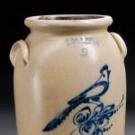 Two Cobalt-decorated Stoneware Crocks, American, 19th century (Lot 767,   Estimate $300-$500)