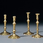 Four 18th Century English Brass Candlesticks (Lot 862, Estimate $300-$500)