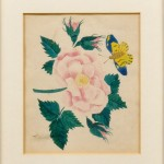 Small Smoke-decorated Framed Floral Theorem (Lot 899, Estimate $200-$300)