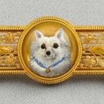 Antique 14kt Bicolor Gold and Reverse-painted Crystal Brooch, Tiffany & Co. (Sold for $9,600)