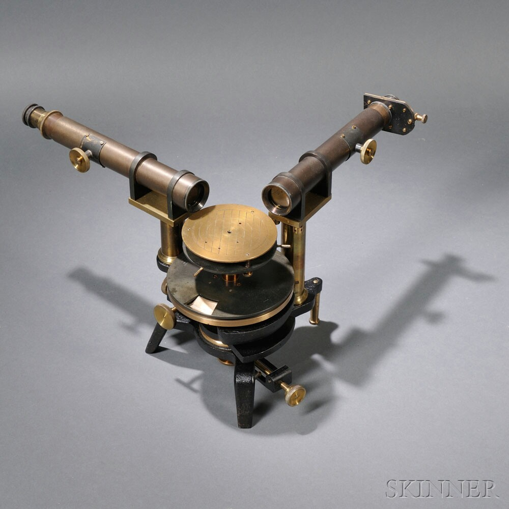 John Browning Brass Spectroscope, 139 Strand, London, 7478 (Lot   318, Estimate $800-$1,200)