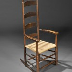 Shaker Brown-Red-painted Rocking Chair, New Lebanon, New York, c. 1800 (Lot 9, Estimate $12,000-$15,000)