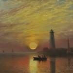 Albert Bierstadt (American, 1830-1902)  Lighthouse, Newport, Rhode Island (Lot 251, $40,000-$60,000)