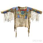 Blackfoot Beaded and Painted Antelope Hide Shirt, c. 1870 (Lot 131, Estimate $125,000-$175,000)