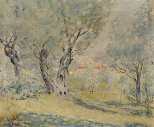 Frederick Frieseke Impressionist Painting Olive Trees Cagnes