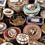 English French and German snuff patch boxes