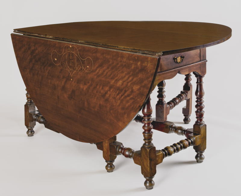 Drop-Leaf Table Made for James and Elizabeth Bartram - Paint, Pattern And People At Winterthur Fascinating And Rare