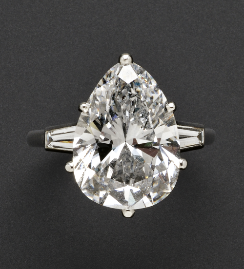 Platinum and Diamond Solitaire Mounted by Cartier
