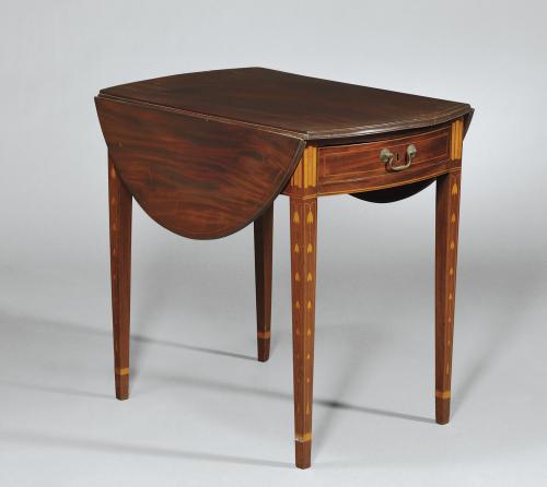 Wonderful Federal Inlaid Mahogany Pembroke Table