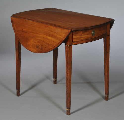 Beau Federal Inlaid Mahogany Pembroke Table