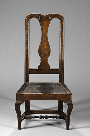Queen Anne Tiger Maple Side Chair
