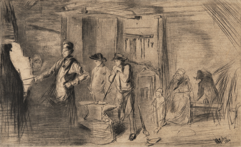 James Whistler Etching
