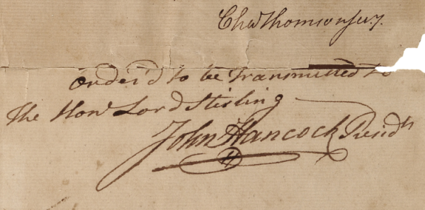 Signed Historical Documents | John Hancock
