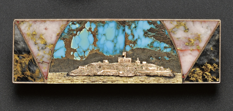 Vintage Jewelry in Boston | Alcatraz Island Scenic Brooch