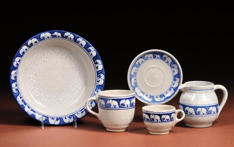 Dedham Pottery | Elephant Design