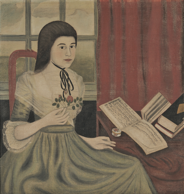 Fine Art Auction Highlights | Folk Art Portrait