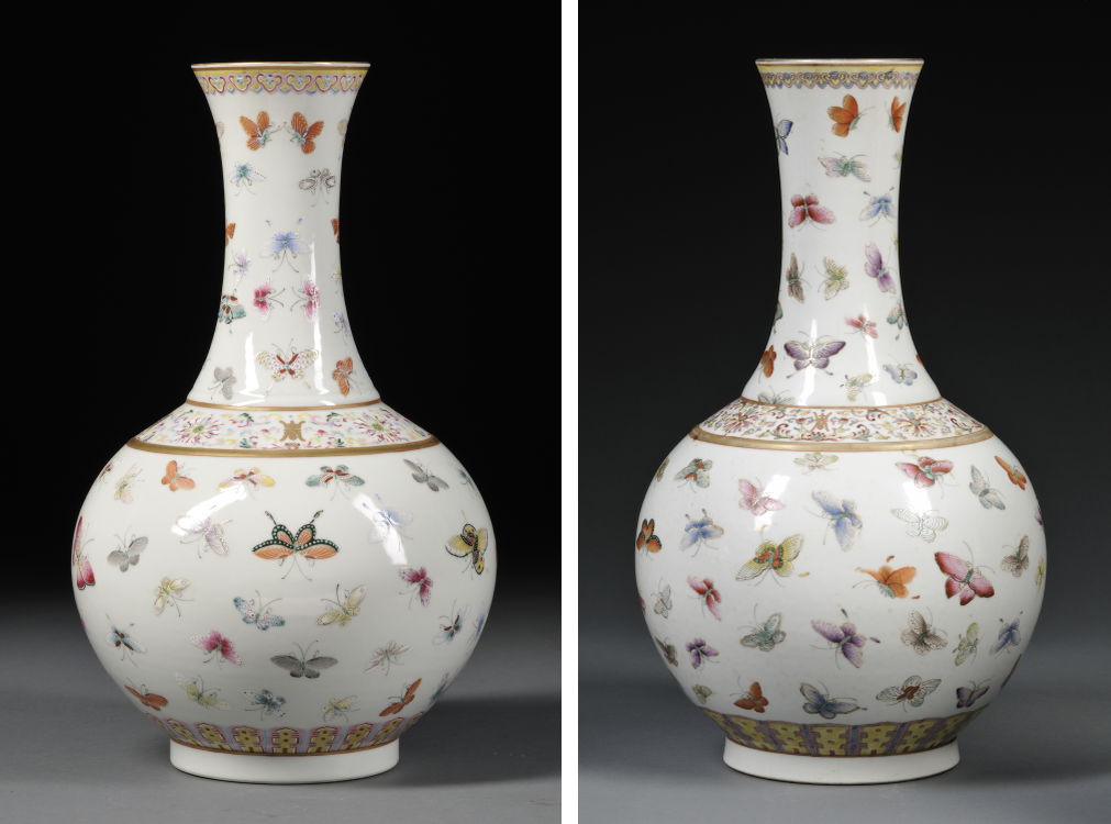 "Chinese Art Market | ""Hundred Butterflies"" Vases"