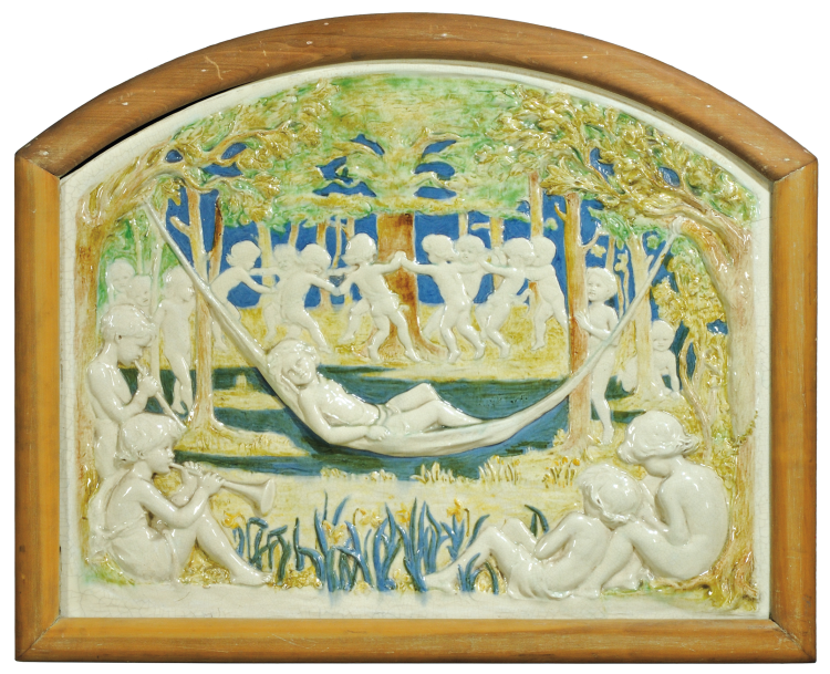 Della Robbia Pottery | Wall Plaque by Ellen Mary Rope