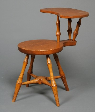 Wallace Nutting Tiger Maple and Pine Seat