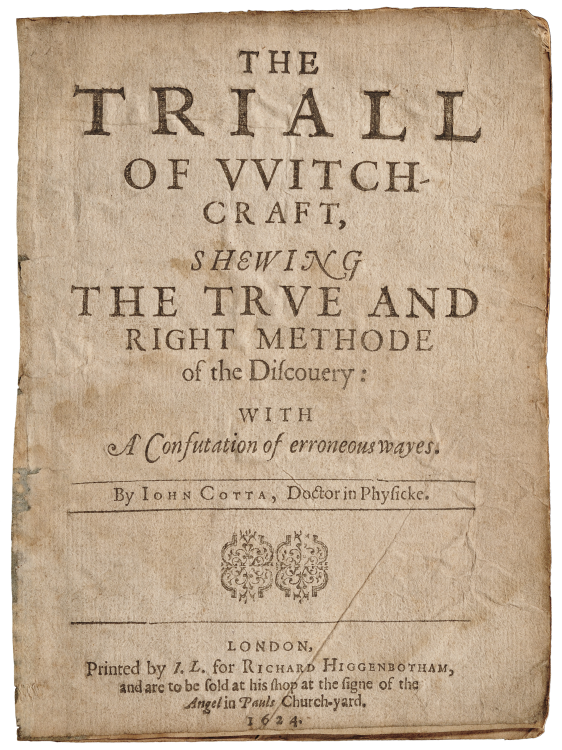 What are Old Books Worth? The Triall of Witchcraft, Auctioned for $1,960