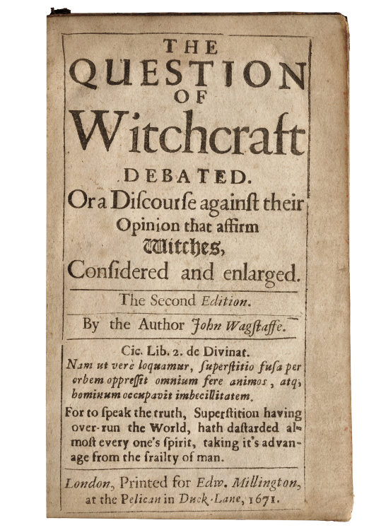 What are Old Books Worth? The Question of Witchcraft Debated, Auctioned for $1,347.50