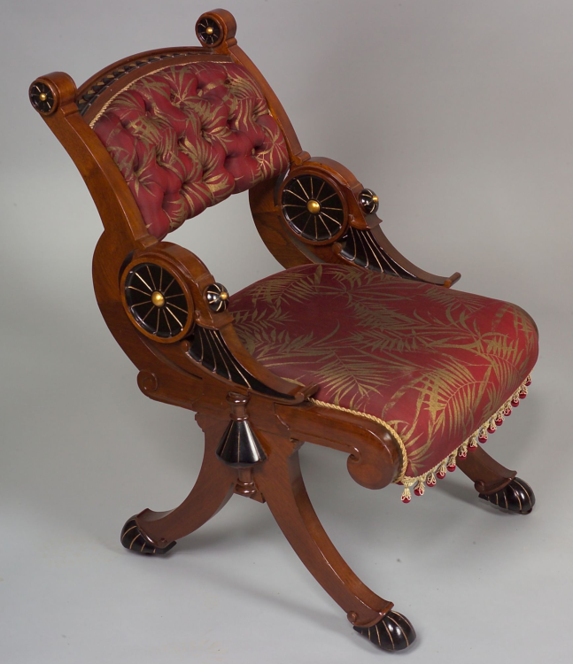 Victorian Furniture | Ebonized Mahogany Chair - How To Buy American Victorian Furniture Victorian Furniture Guide