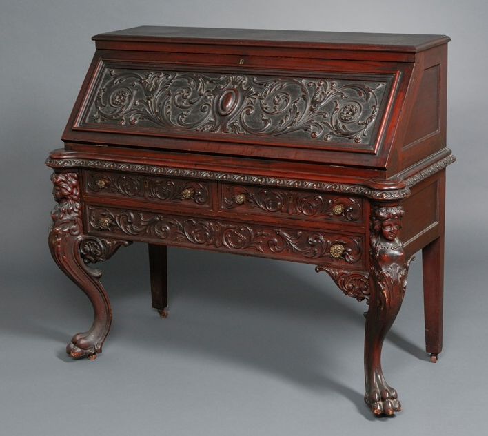 Victorian Furniture | Mahogany Desk - How To Buy American Victorian Furniture Victorian Furniture Guide