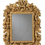 Lot 291: Carved Giltwood Mirror, 19th century, Estimate $2,000-$4,000