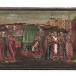 Lot 321: Russian Icon Depicting The Translation of the Relics of St. Nicholas, 19th century,  Estimate $1,000-$1,500
