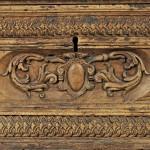 Lot 447: Italian Baroque Fruitwood Cassone, 17th century, Estimate $800 -$1,200
