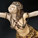 Lot 502: Claire Jeanne Roberte Colinet (French, 1880- 1950), Egyptian Dancer, c. 1930,  Estimate: $4,000-$6,000