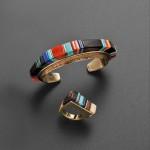 Hopi Gold Bracelet and Ring, Charles Loloma (Lot 330, Estimate   $15,000-$20,000)