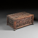 John Bellamy American Centennial Carved Walnut and Pine Box (Lot 91, Estimate $30,000-$50,000)