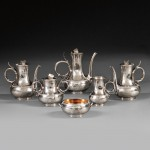 Six-piece Gorham Coin Silver Civil War Presentation Tea Set, Providence, Rhode Island, c. 1863 (Lot 226, Estimate $8,000-$12,000)