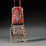 Rare Cree Beaded Cloth Panel Bag, c. mid-19th century (Lot 161,   Estimate $12,000-$16,000)